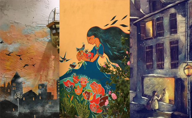 نمونه نقاشی های نقاش آنسو
