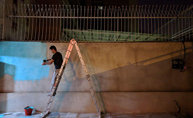دیوار شرقی آنسو قبل از گل کاری