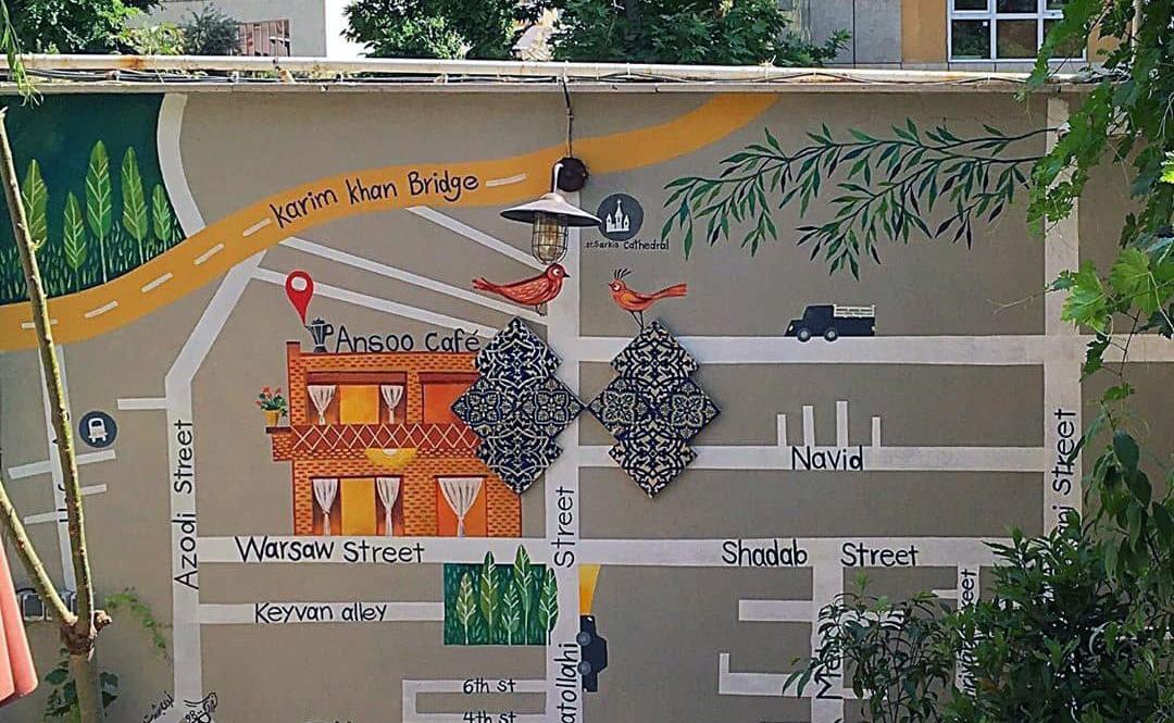 دیوار نقاشی شده آنسو
